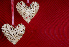 Fond de jour du ` s de Valentine avec le coeur Images libres de droits