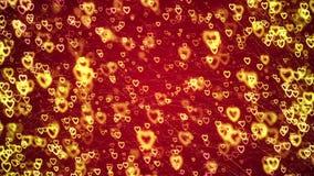 Fond de jour du ` s de Valentine, coeurs abstraits volants et particules illustration stock