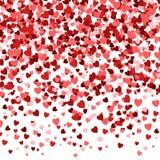 Fond de jour du ` s de Valentine, texture romantique Contexte de confettis de coeurs Photographie stock