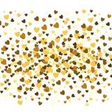 Fond de jour du ` s de Valentine, texture romantique Contexte de confettis de coeurs Image stock