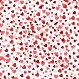 Fond de jour du ` s de Valentine, texture romantique Contexte de confettis de coeurs Photos libres de droits