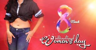 Fond de jour du ` s de femmes, le 8 mars jour international du ` s de femmes Photos stock
