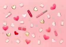 Fond de jour du ` s de Valentine Photos libres de droits