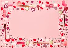 Fond de jour du ` s de Valentine Photos stock