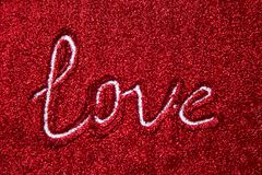 Fond de jour du ` s de Valentine avec amour Fond romantique avec p Image libre de droits