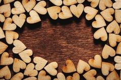 Fond de jour du ` s de Valentine Petits coeurs Image stock