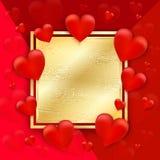Fond de jour de Valentines avec des coeurs Vecteur wallpaper insectes, illustration de vecteur
