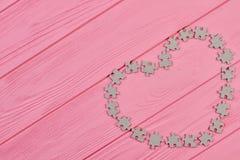 Fond de jour de valentines avec des puzzles Image stock