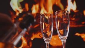 Fond de jour de valentines avec le champagne clips vidéos
