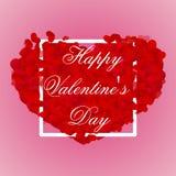 Fond de jour de valentines avec les coeurs 3d rouges illustration libre de droits