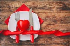 Fond de jour de valentines, dîner de fête Photos stock