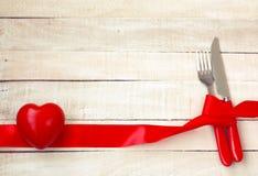 Fond de jour de valentines, dîner de vacances Photographie stock