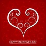 Fond de jour de valentines de vecteur avec le coeur de remous Concevez pour la carte de voeux de jour du ` s de Valentine Photographie stock libre de droits