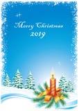 Fond 2019 de Joyeux Noël Photos libres de droits