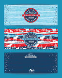 Fond de Joyeux Noël avec la typographie Illustration de vecteur Photos stock