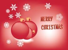 Fond de Joyeux Noël - conception de 2 couleurs Images stock
