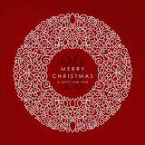 Fond 2016 de Joyeux Noël et de bonne année Image libre de droits