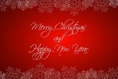 Fond de Joyeux Noël et de bonne année, carte de voeux illustration stock