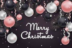 Fond de Joyeux Noël et de nouvelle année Photographie stock libre de droits