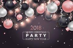 Fond de Joyeux Noël et de nouvelle année Images libres de droits