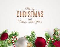Fond de Joyeux Noël et de nouvelle année Illustration de vecteur illustration de vecteur