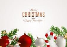 Fond de Joyeux Noël et de nouvelle année Illustration de vecteur illustration stock