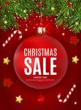 Fond de Joyeux Noël et de vente de nouvelle année Illustration de vecteur illustration stock