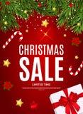 Fond de Joyeux Noël et de vente de nouvelle année Illustration de vecteur illustration libre de droits