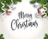 Fond de Joyeux Noël pour des félicitations illustration libre de droits