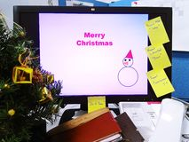 Fond de Joyeux Noël, vacances, fond Photographie stock
