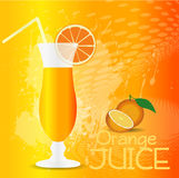 Fond de jus d'orange Image stock