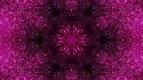 Fond de kaléidoscopes de disco avec les lignes colorées au néon rougeoyantes animées et les formes géométriques pour les vidéos m banque de vidéos