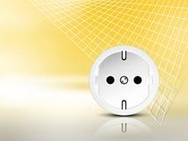 Fond de l'électricité avec la prise Images stock