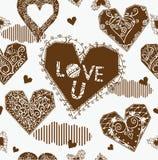 Fond de l'amour U Images libres de droits