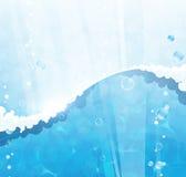 Fond de l'eau bleue Photos libres de droits