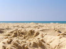 Fond de l'eau de sable de plage d'été photographie stock libre de droits