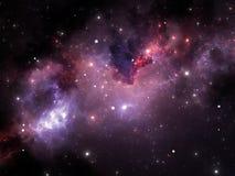 Fond de l'espace avec la nébuleuse et les étoiles Photographie stock