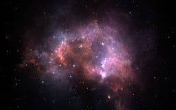 Fond de l'espace avec la nébuleuse et les étoiles Image stock