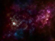 Fond de l'espace avec les étoiles et la nébuleuse Images libres de droits