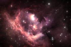 Fond de l'espace de ciel nocturne avec la nébuleuse et les étoiles Photos libres de droits