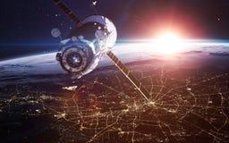Fond de l'espace infini avec des nébuleuses et des étoiles Éléments de cette image meublés par la NASA photographie stock