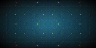 Fond de l'espace infini de vecteur Matrix de rougeoyer se tient le premier rôle avec l'illusion de la profondeur et de la perspec Image stock
