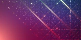Fond de l'espace infini de vecteur Matrix de rougeoyer se tient le premier rôle avec l'illusion de la profondeur et de la perspec illustration stock