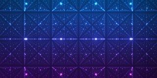 Fond de l'espace infini de vecteur Matrix de rougeoyer se tient le premier rôle avec l'illusion de la profondeur et de la perspec Photographie stock