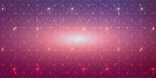 Fond de l'espace infini de vecteur Matrix de rougeoyer se tient le premier rôle avec l'illusion de la profondeur, perspective illustration de vecteur