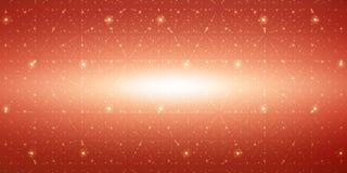 Fond de l'espace infini de vecteur Matrix de rougeoyer se tient le premier rôle avec l'illusion de la profondeur, perspective illustration libre de droits