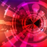 Fond de l'espace de vecteur Matrix de rougeoyer se tient le premier rôle avec l'illusion de la profondeur et de la perspective illustration stock
