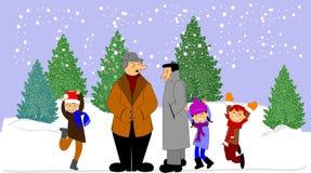 Fond de l'hiver Images libres de droits