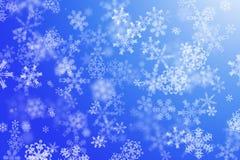 Fond de l'hiver avec des flocons de neige Photo libre de droits