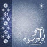 Fond de l'hiver avec des gaines de patin. EPS10 Images stock
